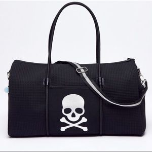Chuchka X Soulcycle Skull Neoprene Gym Travel Bag